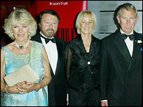 Charles and Camilla with Abba's Bjorn and Anni-Frid