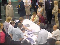Votes are counted in Wrexham