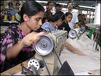 Women garment workers in Dhaka