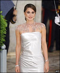 Queen Rania of Jordan in Madrid