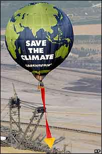 Climate protest balloon   AP
