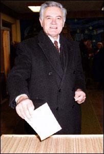 Lithuanian presidential candidate Valdas Adamkus