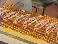 Tunnocks caramel wafers on the production line