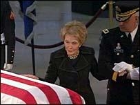 Nancy Reagan in the Capitol Rotunda