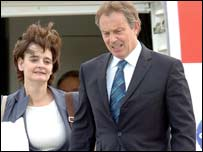 Tony Blair with his wife Cherie