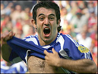Greece goalscorer Georgios Karagounis