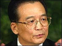 Premier chino Wen Jiabao.