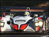 Tom Kristensen driving in the Le Mans race