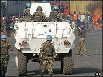UN peacekeepers in Bukavu