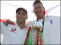 Thorpe and Giles secured victory for England