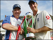Duncan Fletcher and Michael Vaughan