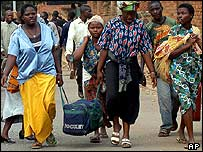 Congolese refugees from Bukavu. Archive picture