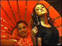 Preity Zinta performing in Singapore