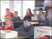 A class at Queen Elizabeth Cambria School, Carmarthen