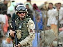 Military police officer Abu Ghraib prison, Baghdad