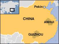 Mapa de la región del escándalo