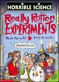 Book cover of Really Rotten Experiments, Scholastic Children's Books