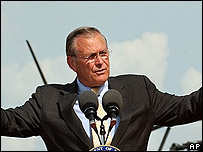 El secretario de Defensa de Estados Unidos, Donald Rumsfeld