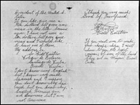 A letter from a young Castro to Roosevelt (National Archives and Records Administration)