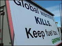 Greenpeace banner