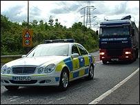 Police escort hauliers