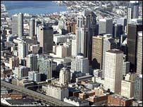 The Seattle skyline, AP