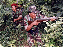 Gam rebels in Aceh, June 2004