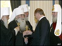 Vladimir Putin miembros de la Iglesia Ortodoxa Rusa