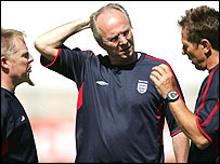Sven-Goran Eriksson scratches his head