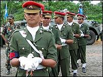 Doves on parade in Sri Lanka