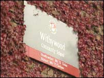 Withywood School sign