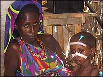 Somali woman with child (archive picture)