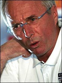 Sven-Goran Eriksson looks puzzled