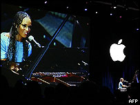 Singer Alicia Keys at London iTunes launch