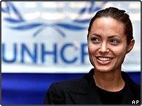 UNHCR goodwill ambassador Angelina Jolie