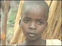 Malnourished child in Murnei camp, Darfur