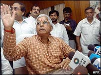 Railway Minister Laloo Prasad Yadav
