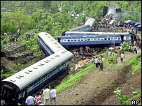 The crashed Matsyagandha Express train