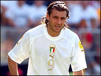 Italy striker Christian Vieri
