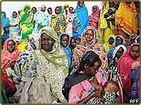 Refugee women in Darfur
