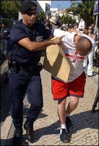 England fan led into Portuguese court