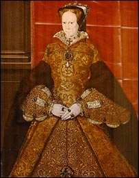 The 16th century panel painting of Queen Mary I, by Hans Eworth