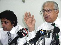 PCB president Ramiz Raja and chairman Shahryar Khan