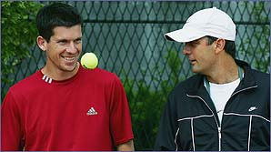 Tim Henman and Paul Annacone
