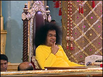 Sai Baba in the ashram