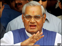 Former Indian prime minister Atal Behari Vajpayee
