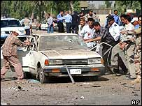 Baghdad car bomb scene