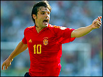 Morientes scored Spain's goal against Greece