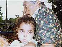 Stefania with her great-grandmother