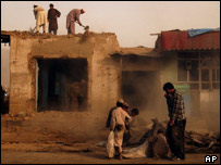 Afghan labourers in Kabul